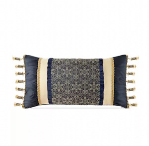 waterford vaughn pillow decorative Size 12x 24 ( Navy/gold )
