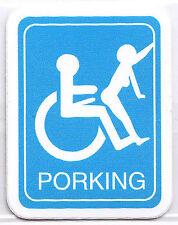 PORKING Sticker Parotee Marijuana Collectible Funny Decal Stupid Prank Position