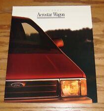 Original 1992 Ford Aerostar Wagon Sales Brochure 92 XL Plus XLT Eddie Bauer