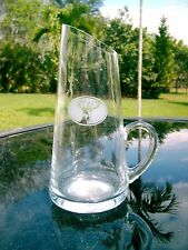 "6.75"" Glass Pitcher With Stag Deer Acid Etching Clearance Price"