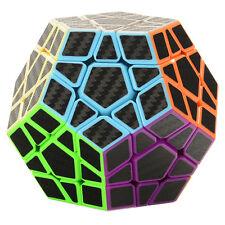 Z-Cube Carbon Fiber Sticker 3x3x3 Megaminx Speed Cube Puzzle Brain Teaser Toys