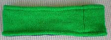 Hand Crocheted 100% Wool w/ Fleece Lining Headband Adult Size GREEN