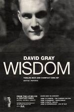"19/6/93PGN14 DAVID GRAY : WISDOM ADVERT 7X5"" TOUR DATES"