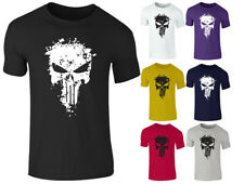 Nuevo Para hombres Gimnasia Entreno Body Building The Punisher MMA UFC Guerrero T SHIRT Top