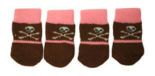 Cute Skull Design Anti-Slip Dog Socks for Clean & Comfy Paws Puppy 4pcs Size S