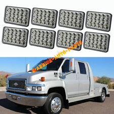 8PCS LED Headlights For Chevrolet GM C4500 and C5500 vehicles w/ dual headlights