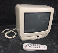"Panasonic Vintage Color Television 10"" Tv Ct-9R10T W/Remote Retro White 1996"