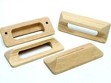 "4-PER Oak 4.5"" Unfinished Cabinet Wooden Handle CUP Pulls Knob /Brass Inserts NC"