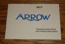 Original 1977 Plymouth Arrow Owners Operators Manual 77