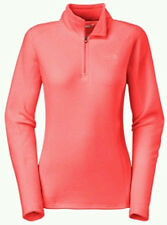 NWT WOMENS THE NORTH FACE GLACIER 1/4 ZIP LIGHTWEIGHT PULLOVER SZ MED TROP CORAL