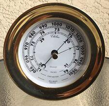 """Chelsea Brass Barometer Newport 4 1/2"""" For Clock"""