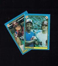 1983 Fleer Baseball Album Stickers #143 & #174 Pete Rose (A)