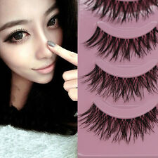 5 Pairs Makeup Handmade Natural Thick False Eyelashes Eye Lashes Extension