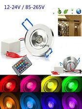 3W RGB LED Spotlight Recessed Downlight Ceiling Light Lamp Blub 12-24V / 85-265V