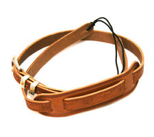 Genuine Gretsch Tooled Russet Leather Cowboy Strap for Guitar/Bass 922-0021-000