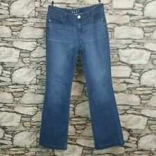Elle Simple Style Womens Jeans Size 8 100% Cotton Medium Wash Whiskers Mid Rise