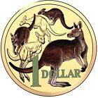 AUSTRALIA 2014 $1 MOB OF ROOS COLOURED ALUMINIUM BRONZE COIN EX SET