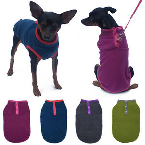 Pet Supplies Cute Dog Cat Vest Polar Fleece Hoodie Buckle Coat Blouse Tops XS-XL