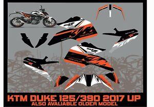 KTM DUKE 125 KTM DUKE 390 FULL GRAPHICS KIT STICKERS DECALS ALL YEARS
