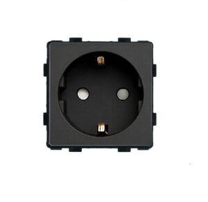 LUX Lichtschalter Glas Rahmen Touch Steckdose Wechselschalter Schwarz GT400