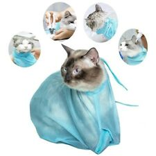 Mesh Cat Bathing Bag Cats Grooming Shampoo Clean No Scratching Bite Restraint
