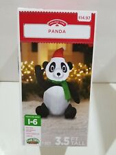 Holiday Time Inflatable Panda 3.5 Ft Tall Airblown Gemmy Christmas Decor