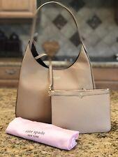 KATE SPADE Rita Medium Hobo Handbag - Tan (Light Fawn) Leather (Retail $298)
