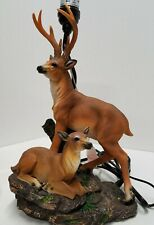 Whitetail Deer Buck Table Lamp Hunter Wildlife