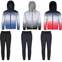 Boys Girls Ombre Tracksuits Kids Hooded Top Jacket Pants Bottoms Trousers 3-14 Y