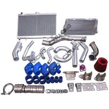 Intercooler Intake Radiator Engine/Trans Mount Downpipe For 2JZGTE 83-88 Toyo...