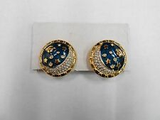 vintage swarovski moon and stars collection earrings estate find