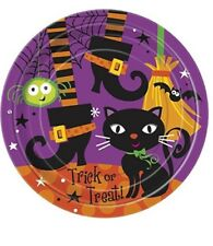 "8 SPOOKY BOOTS Halloween Party Supplies Large 9"" Dinner PLATES"