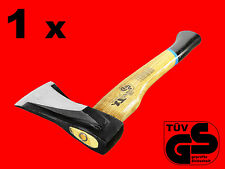1 x Spaltaxt Holz Axt 1000 Gr Forst Beil Holzfäller Handaxt Holzstiel Kurz XT056