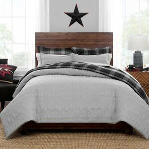 New Pendleton Skywalkers Quilted Comforter Set Twin Gray