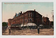 Gloversville,NY.Main St. & West Fulton Street,Trolley Car,Fulton County,c.1909