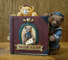FIGI #CKH-AT-201 ANTIQUE TEDDY HINGED CLOCK, NEW/Box From Retail Store, 5.75""