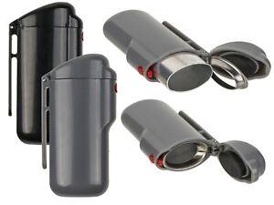 Taschenaschenbecher Reiseaschenbecher »Feuerzeug« Metall Kunststoff NEU