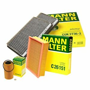 Mann Oil Air Carbon Cabin Filter Service Kit For BMW E39 540i M5 RWD