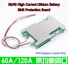 3S 4S 60A-120A Lithium Li-ion LiFePo4 Battery BMS Protection Board W/Balance