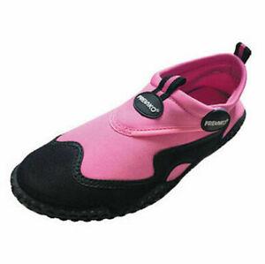 Fresko Slip On Women's Aqua Shoes L1282, Pink, 8 Medium US