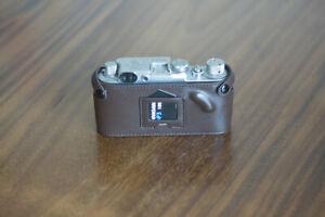 Zhou Brown Leather Half Case w Film ASA Speed Card PKT f/ Leica Screw Mount IIIf