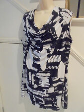 LADIES MILLERS SIZE 20 STUNNING WHITE BLACK PATTERN DRESS BEADING 'PERFECT'