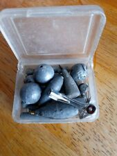 JOB LOT OF LEAD VINTAGE FISHING WEIGHTS