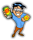 """Animal Guy Party Time Beer Car Bumper Sticker Decal 4"""" x 5"""""""