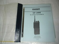 Maxon SP-2000 Scanning SVC-SP2000C Hand-Held Two-Way Radio Service Manual