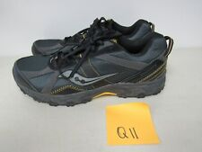 MENS SAUCONY GRID RAPTOR TR7 GRAY BLACK YELLOW RUNNING SHOES SIZE 12M Q11