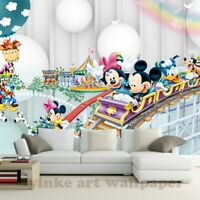 3D Cartoon Wallpaper Mural Children Room Non Woven 3d Wallpaper For Kids Room
