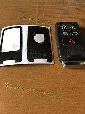 Schwarz Gebürstet Folie Dekor  Schlüssel Volvo D5 S80 XC60 XC70 V70 5 Tasten