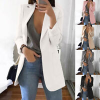 Fashion Women Slim Casual Business Blazer Suit Jacket Coat Outwear OL Work