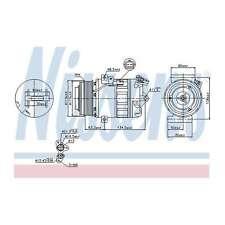 Fits Nissan X-Trail T31 2.0 dCi Genuine Nissens A/C Air Con Compressor